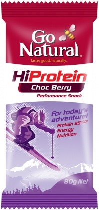 Go Natural Hi Protein Choc Berry 10x80g