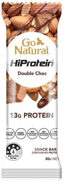 Go Natural Hi Protein Nut Crunch Double Choc Bars 16x50g