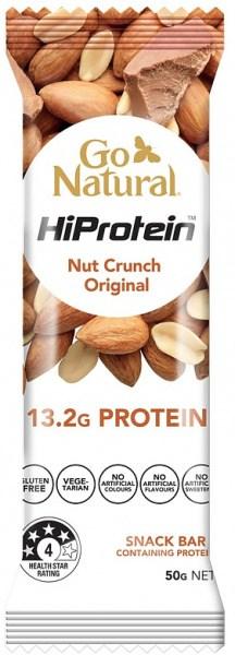 Go Natural Hi Protein Nut Crunch Original Bars 16x50g