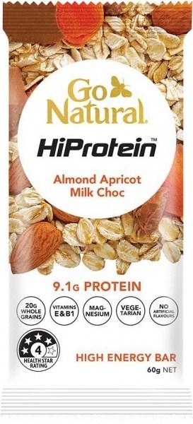 Go Natural HiProtein Almond Apricot Milk Choc 10x60g