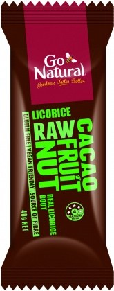 Go Natural Licorice Raw Cacao Fruit Nut  12x40g