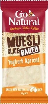 Go Natural Muesli Slice Yoghurt Apricot 90g