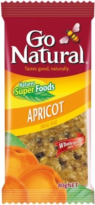 Go Natural Organic Apricot Meal Bar 12x80gm