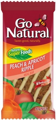 Go Natural Peach & Apricot Ripple Meal Bar 12x80g