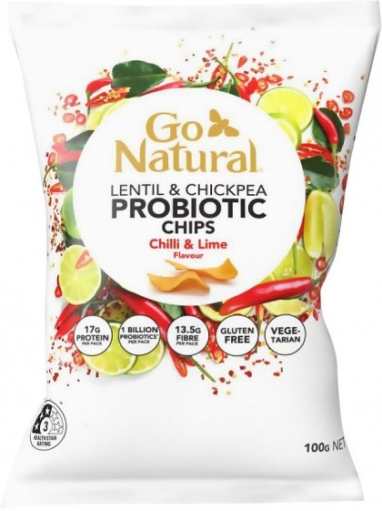 Go Natural Probiotic Chips Chilli & Lime Flavour 100g