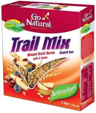 Go Natural Trail Mix Almond/Brazil Berries (5Bars) 175g