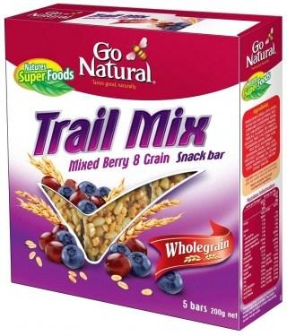 Go Natural Trail Mix W/Grain Mix Berries (5Bars) 200g