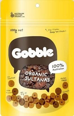Gobble Organic Sultanas 100g
