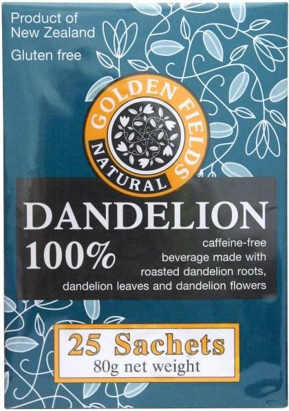 Golden Fields Organic Coffee Dandelion 100%  (25Sachets) 80g