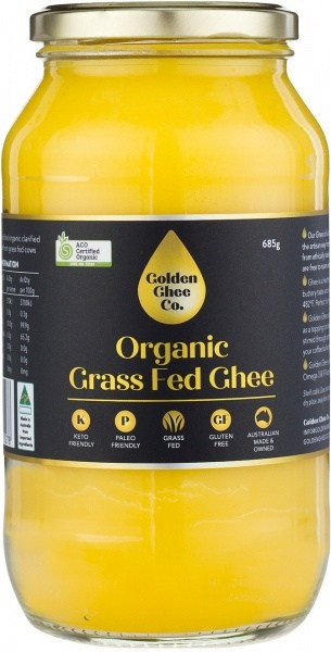 Golden Ghee Co Organic Grass Fed Ghee  685g