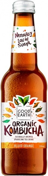 Good Earth Organic Kombucha Blood Orange 12x330ml