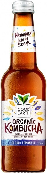Good Earth Organic Kombucha Cloudy Lemonade 12x330ml