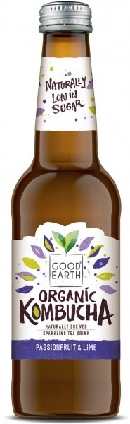 Good Earth Organic Kombucha Passionfruit & Lime 12x330ml