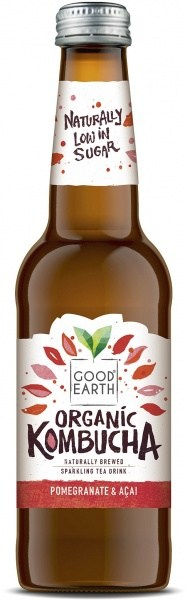 Good Earth Organic Kombucha Pomegranate & Acai 330ml