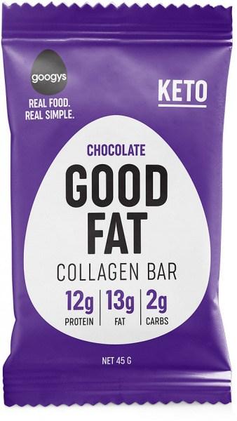 Googys Good Fat Keto Chocolate Collagen Bars  45g