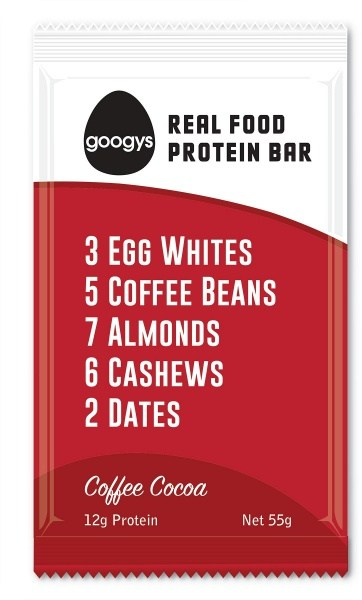 Googys Natural Paleo Protein Bar Coffee Cocoa  12x55g