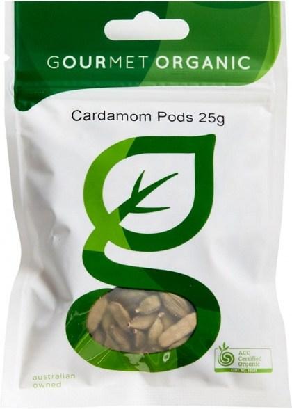 Gourmet Organic Cardamom Pods 20g Sachet x 1