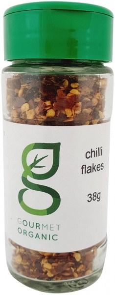 Gourmet Organic Chilli Flakes Shaker 38g