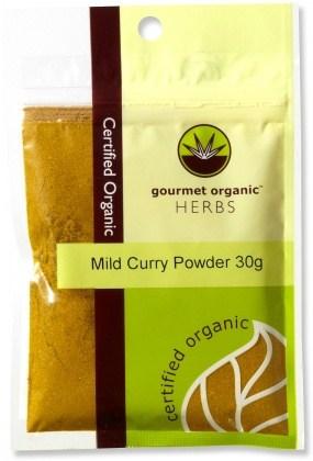 Gourmet Organic Curry Mild Powder 30g Sachet x 1