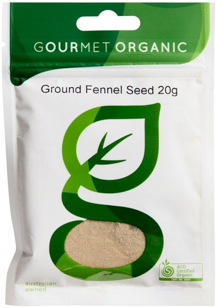 Gourmet Organic Fennel Ground 20g Sachet