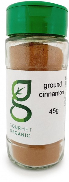 Gourmet Organic Ground Cinnamon Shaker 45g