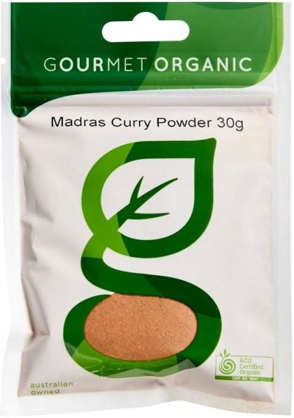 Gourmet Organic Madras Curry Powder 30g Sachet