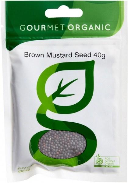 Gourmet Organic Mustard Seed Brown 40g Sachet
