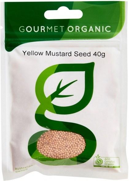 Gourmet Organic Mustard Seed Yellow 40g Sachet