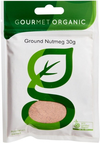 Gourmet Organic Nutmeg Ground 30g Sachet x 1