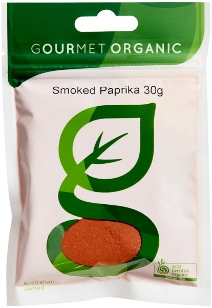 Gourmet Organic Paprika Smoked 30g