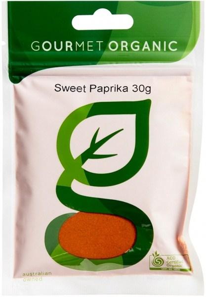 Gourmet Organic Paprika Sweet 30g Sachet x 1