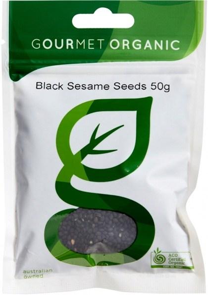 Gourmet Organic Sesame Seeds Black 50g