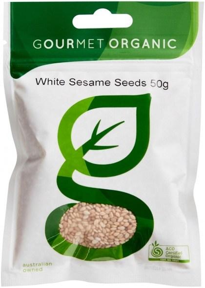 Gourmet Organic Sesame Seeds White 50g