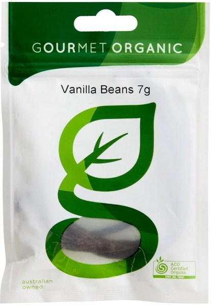 Gourmet Organic Vanilla Beans 7g Sachet x 1