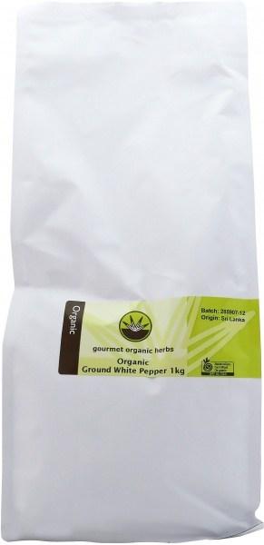 Gourmet Organic White Pepper Ground 1Kg