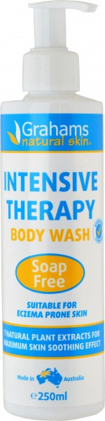 Grahams Intensive Therapy Body Wash Soap Free 250ml