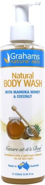 Grahams Natural Body Wash w/Manuka 250ml