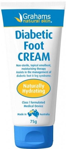 Grahams Natural Diabetic Foot Cream 75g NOV21