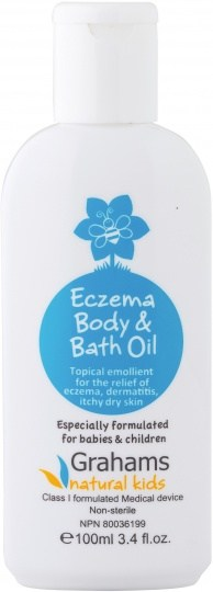 Grahams Natural Kids Baby Eczema Body & Bath Oil Class I MD 100ml