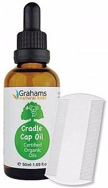 Grahams Natural  Kids Organic Cradle Cap Oil with Comb 50ml