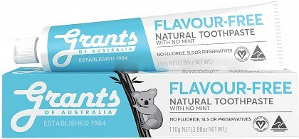 Grants Flavour - Free Toothpaste w/No Mint 110g