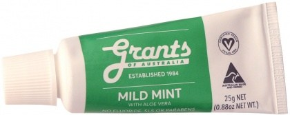 Grants Natural Mild Mint with Aloe Vera Mini Toothpaste 25g