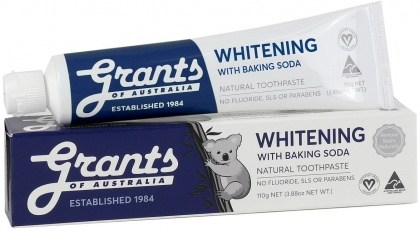 Grants Natural Whitening Toothpaste w/Baking Soda 110g