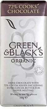 Green & Blacks 72% Cooks Chocolate 150g