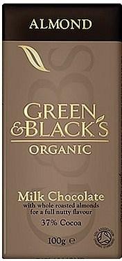 Green & Blacks Organic Almonds &  Milk Choc 100g