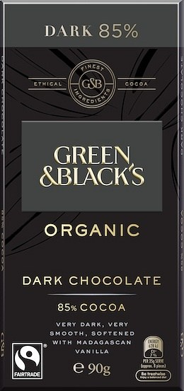 Green & Blacks Organic Dark Chocolate 85% Cocoa 100g
