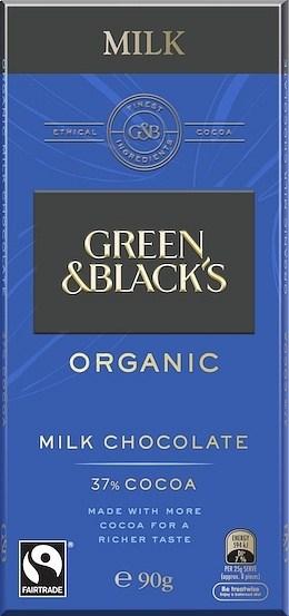 Green & Blacks Organic Milk Chocolate 34% Cocoa 100g
