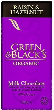 Green & Blacks Raisin & Hazelnut Chocolate 100g