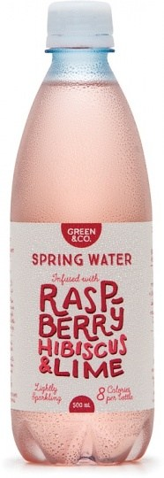 Green & Co Spring Water Infused with Raspberry, Hibiscus & Lime 500ml