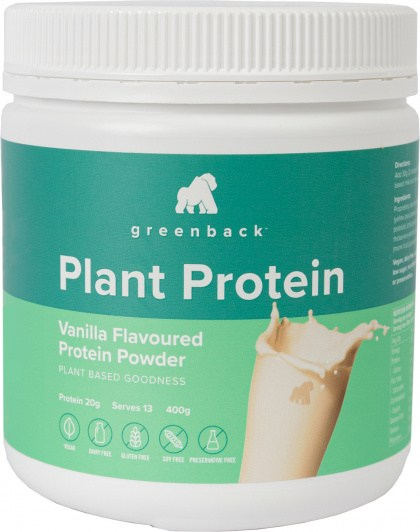 Greenback Plant Protein Vanilla Protein Powder  400g
